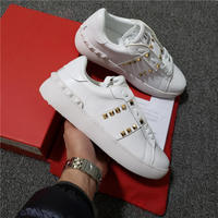 Man Women shoes Hottest high quality luxury Brand Sneakers Fashion Flat rivet strap couples Casual Shoes 35 45