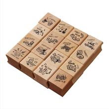 Vintage photo diary stamp DIY wooden rubber stamps for scrapbooking stationery scrapbooking standard stamp 25pcs love diary rubber wooden stamp set diy with wooden box