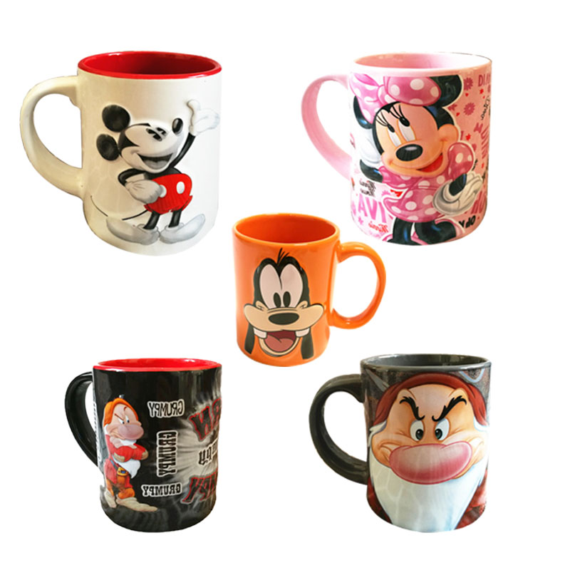 Disney Cartoon Ceramic Cup Fashion Cute Dianey Frozen Mickey Minnie Mug Ome Office Girl Boy Cups Collection Cup Gifts