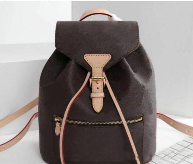 Marque célèbre sac à dos en cuir femme sac à dos femme designer chaîne monogramme mochila feminina mochilas mujer sac à bandoulière
