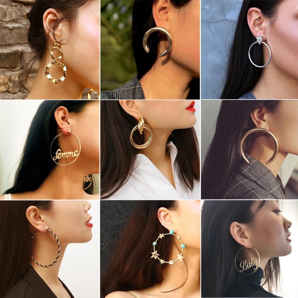 Cute Elegant Earrings Gold Color Zinc Alloy Ethnic Statement Long Dangle Earring For Women Unique Designed Accessories