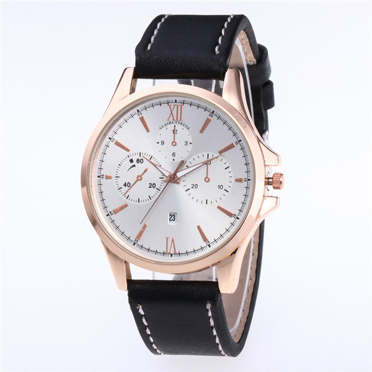 Minimalist Fashion Belt Watch More False Eye Color Face Dial Needle Five Personality Scale With The Calendar Watch