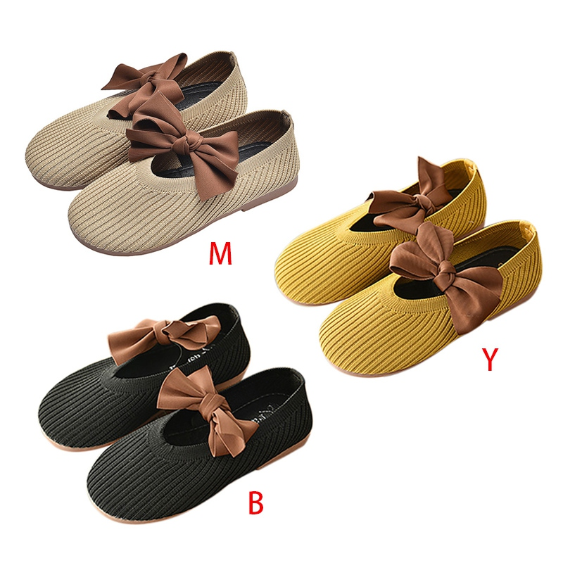Children Toddler Girls Shoes Soft-Soled Bow-Knot Princess Walking Casual Shoes