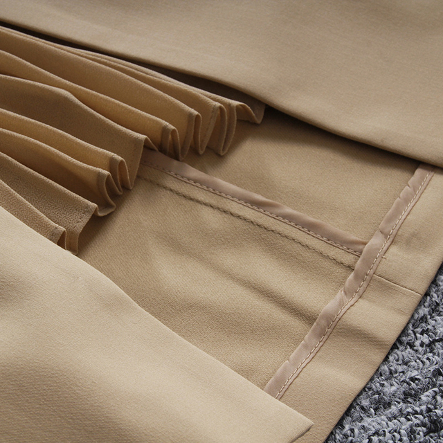 [EAM] High Waist Brown Bandage Asymmetrical Pleated Temperament Half-body Skirt Women Fashion Tide New Spring Autumn 2021 1S464 4