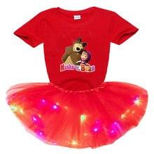Платье пачка для девочек светильник ное легкое светодиодное