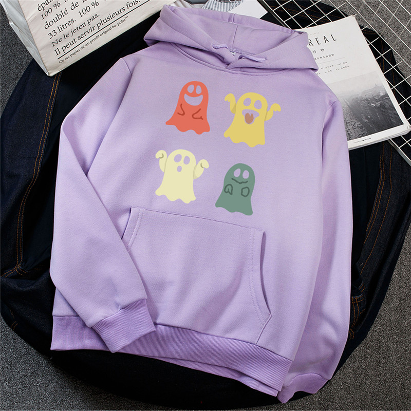 Купить толстовка на хэллоуин с милым принтом призрака одежда для подростков