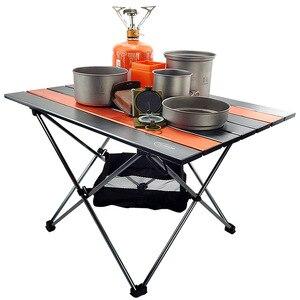 Image 1 - Tavolo da campeggio pieghevole portatile tavolo pieghevole scrivania campeggio Picnic allaperto 6061 lega di alluminio mobili da esterno ultraleggeri