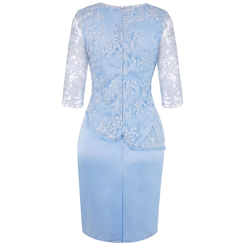 Plus Size Mother Of The Bride Dresses Half Sleeve Formal Wedding Party Gown Lace Patchwork robe mere de la mariee 2019 Onepiece 4