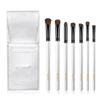 7Pcs Eyeshadow Makeup Brushes Soft Natural Animal Hair Wood Handle Eye Shadow Blending Make Up Brush Set With Bag Cosmetic Tool 3