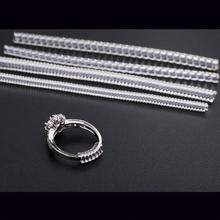 Jewelry Tools & Equipments 4pcs/lot Spiral Based Ring Size Adjuster Guard Tightener Reducer Resizing Tools Jewelry Acccessories