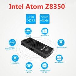 T6 Pro мини-ПК Intel Atom Z8350 четырехъядерный процессор 1,44 ГГц Windows 10 лицензированный 4 Гб RAM 64 Гб ROM 2,4G/5G WiFi BT 4,0 USB 3,0 компьютерная карта