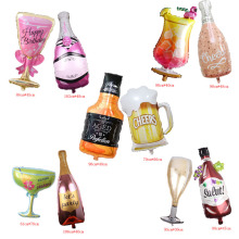 Wine-Bottle-Balloons Whisky Foil Wedding-Decoration Globos Beer Birthday-Party Cheers