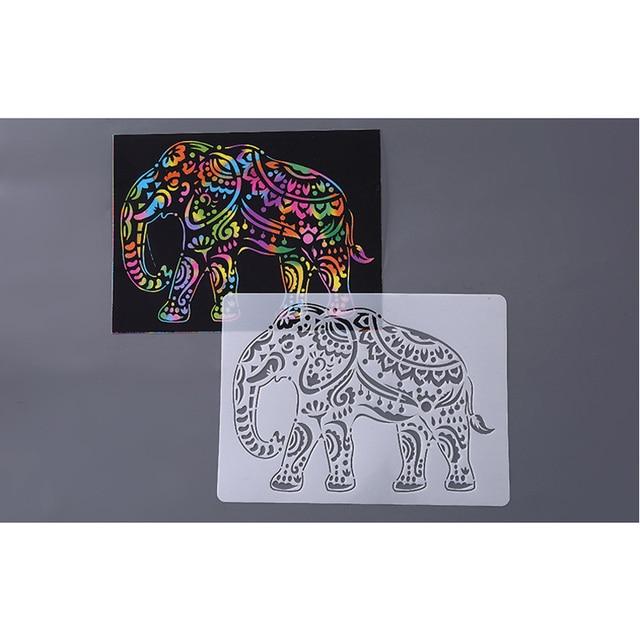 Disegno a mano Stencil Strumenti Giocattolo Per Bambini FAI DA TE Foto Della Novità Giocattolo Educativo Vari Stili Rifornimenti di Arte Creativa Giocattolo Per I Bambini 3