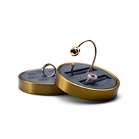 Oirlv New Metal Earring Display with Stand Bracelet Support Clear & Matte Jewelry Ring Holder Organizer Exhibitor