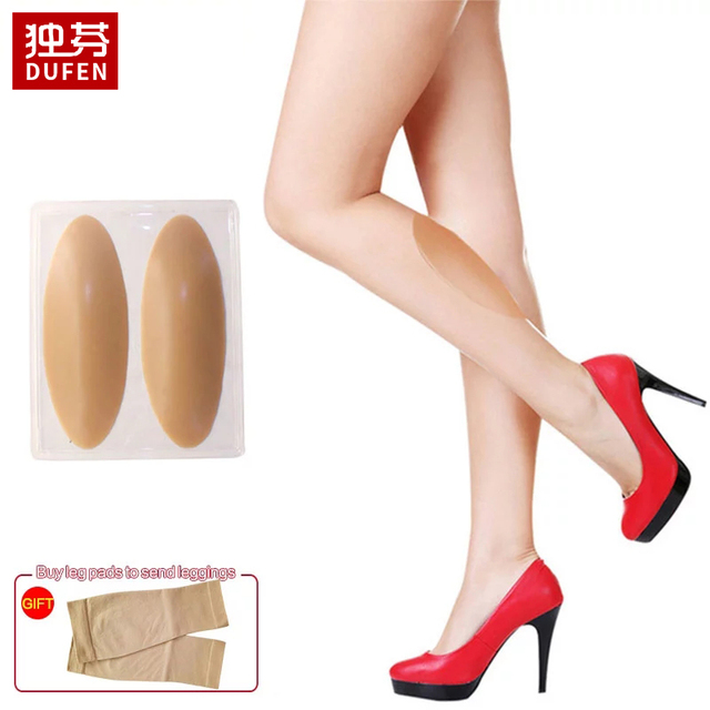 300g Leg Correctors Silicone Leg Onlays Soft Self-Adhesive for Crooked or Thin Legs Includes Elastic Leggings