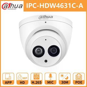 Image 1 - Kamera IP Dahua bezpieczeństwo IPC HDW4631C A 6MP HD CCTV IR30M noktowizor wbudowany mikrofon IP67 Onvif kamera monitorująca strona główna na zewnątrz