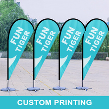 Beach Feather Flag Banner Sign Flagpole Pole Kit Set Custom Printed Exhibition Decoration Sport Advertising Club Outdoor Flying