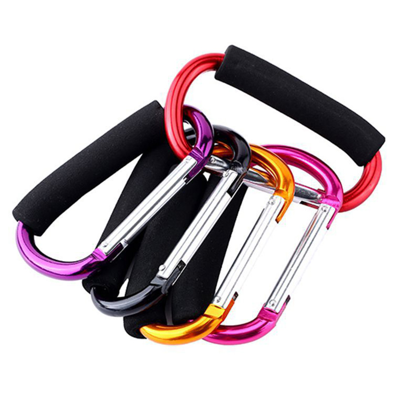 Carabiners D Shape Large Size Aluminum Backpack Buckles Climbing Quickdraws Multifunctional Mountaineering Carabiner