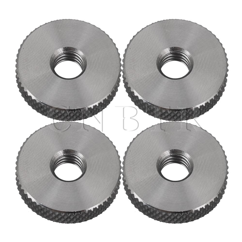CNBTR 20x5mm Stainless Steel Cylindrical Knurled Flat Thumb Nut M6 Pack Of 4