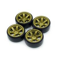 INJORA 4Pcs 1/10 Drift Car Tires Hard Tyre for Traxxas Tamiya HPI Kyosho On-Road Drifting Car Spare Parts 4