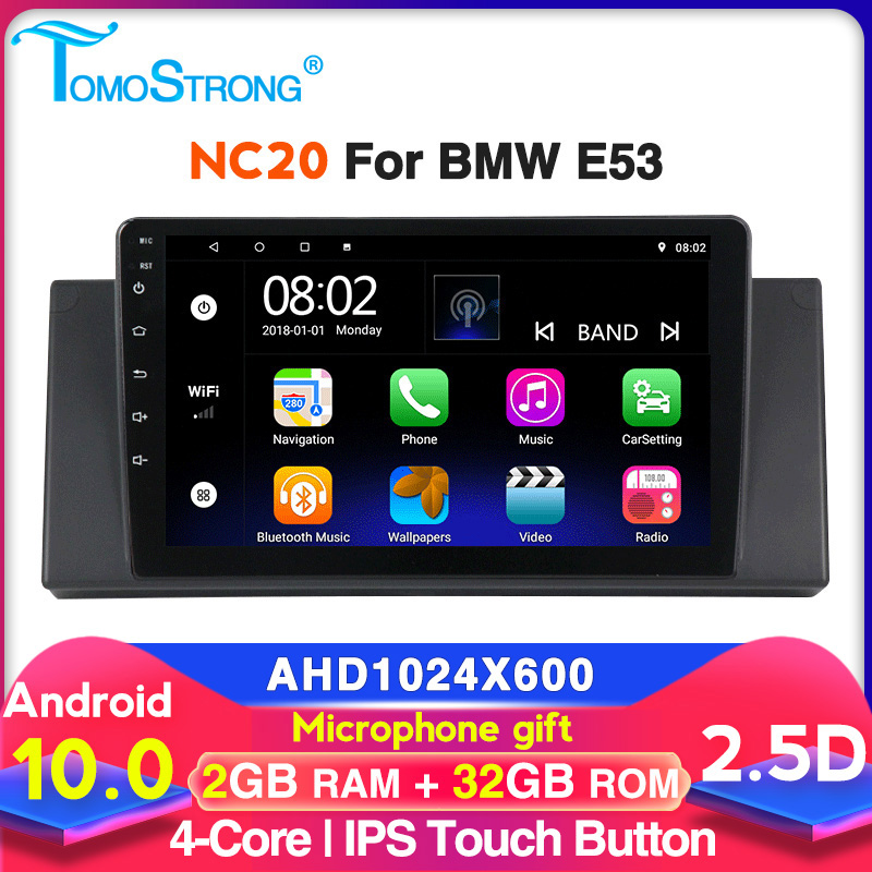 9 inch Android 2GB 32GB GPS For BMW X5 E39 <font><b>E53</b></font> 1999 2000 <font><b>2001</b></font> 2002 2004 2005 2006 car radio multimedia video player auto stereo image