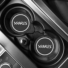 2 шт., автомобильный держатель для бутылки с водой, Противоскользящий коврик для Toyota yaris 2004 2008 2018, аксессуары, Стайлинг автомобиля