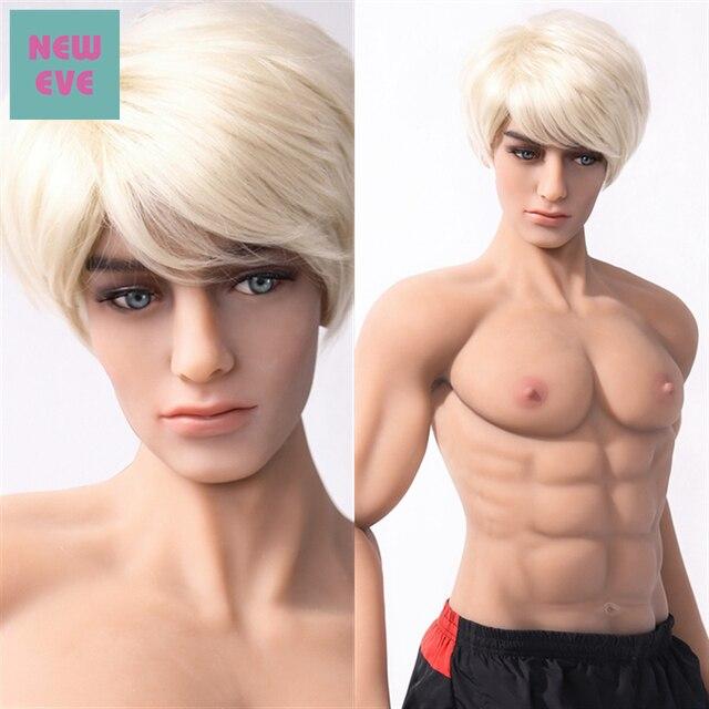 180cm 5.9 ft 남성 섹스 인형 여성용 자위대 게이 남성 섹스 인형 빅 페니스 실리콘 러브 인형 무료 배송