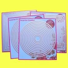 4 Set большие режущие штампы простые прямоугольные квадратные круги и овальные картонные скрапбукинговые бумажные поделки DIY сюрприз создание штампы
