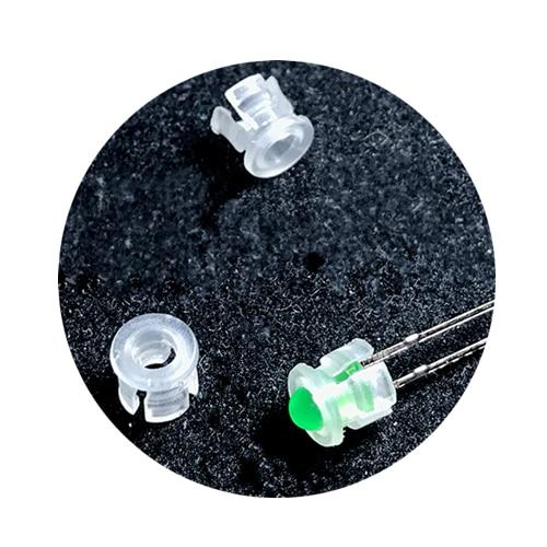 100Pcs White Plastic 3mm Through Hole LED Clip Holder Case Socket Spacer
