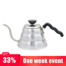GFHGSD 1pc 1.0L Stainless Steel Coffee Kettle Hight Quality Hario Style V60 Tea and Coffee Drip Kettle Pot Kitchen Accessories hario чайник 0 6 л cha 4sv hario