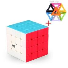 Qiyi Mofangge 4X4X4 Magic Neo Cube Shining Stickerloze 4 Door 4 Cube Cubo Magico Puzzel Gift speelgoed Voor Kinderen Puzzel Kubus