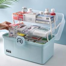 Plastic Storage Box Medical Box Organizer Multi-Functional Portable Medicine Cabinet Family Emergency Kit Box Dropship