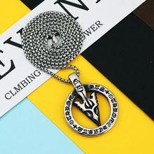 Crowe Руна стрела ожерелье с круглой подвеской мужское Новая