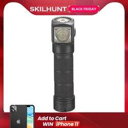 2018 Новый Skilhunt H03 H03R H03F RC 1200 люмен холодный или нейтральный белый USB Магнитный зарядный фонарик лампа + повязка