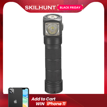 2018 New Skilhunt H03 H03R H03F RC 1200 Lumens Cold Or Neutral White USB Magnetic Charging Flashlight Lamp+headband