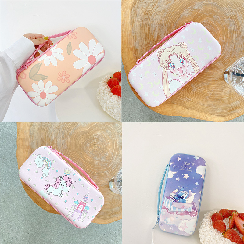 Cute Cartoon Anime Storage Bag For Nintendo Switch Kawaii Travel Carry Protective Case For Nintend Switch Game Console Box Shell