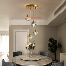Modern Crystal Chandeliers Lighting Fixture Living room Bedroom Dining Restaurant lustre Chandelier Light Fixtures Lamps modern led lustre chandelier hanglamp remote control chandeliers hanging lighting dining room restaurant office light fixture