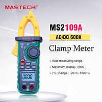 Mastech MS2109A multimètre 600A multimètre Volt Amp Ohm HZ testeur de capacité de température NCV