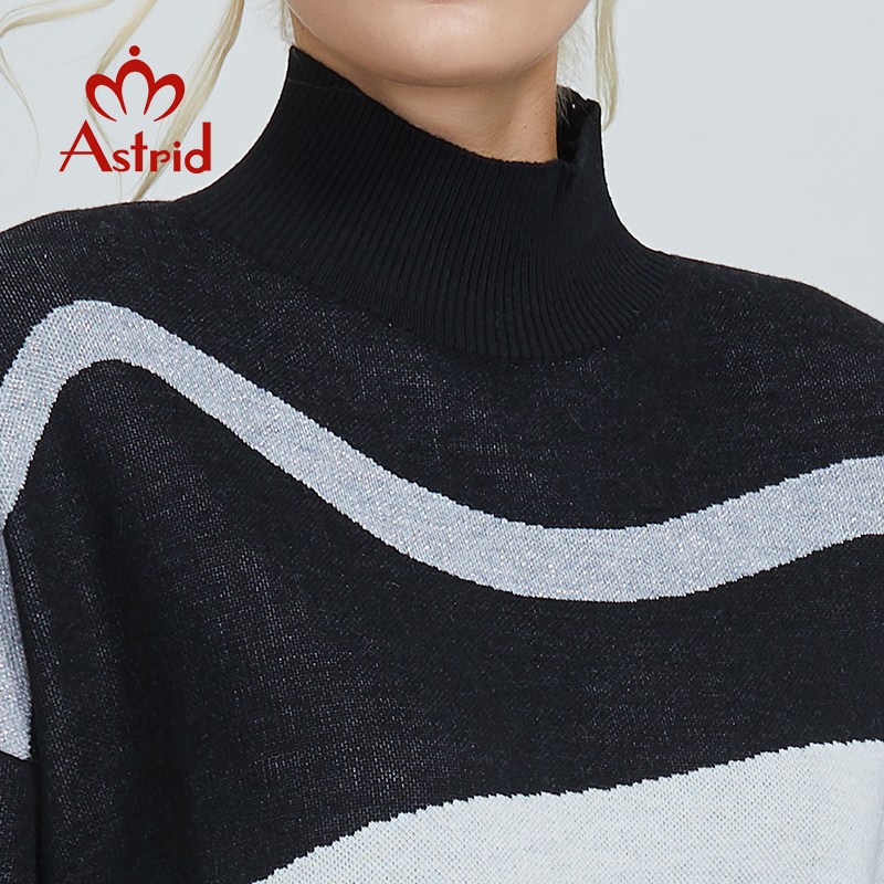 Image 5 - アストリッド 2019 秋の新到着 rollkragen プルオーバーダーメン高品質トップ白黒新しいア ƒ 女性服女性 MS 012    グループ上の レディース衣服 からの プルオーバー の中
