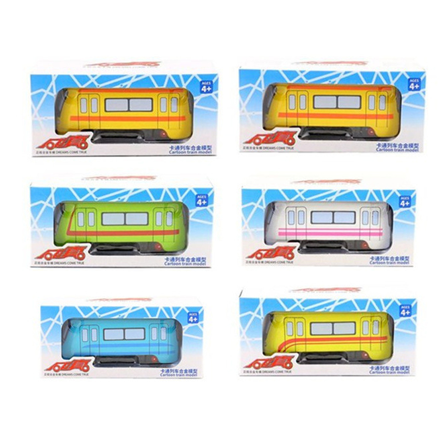 CAIPO 1:250 City Subway Train Alloy Pull-back Vehicle Model Diecast Metal Model Car For Boy Toy Collection Friend Children Gift