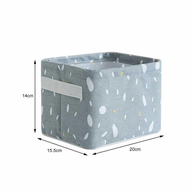 1 PCS Wasserdichte Baumwolle Leinen Lagerung Korb Lagerung Box Kleidung Kleinigkeiten Snack Lagerung Korb Finishing Korb