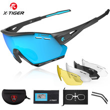X-TIGER New Cycling Glasses MTB Bike Protection Eyewear Running Fishing Sports Men Women 5 Lens Polarized Bicycle Sunglasses