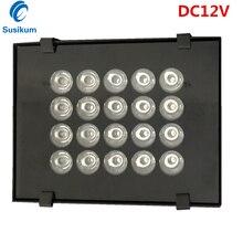 цена на DC12V CCTV Camera Lamp 20Pcs IR infrared Array illuminator infrared IP65 850nm metal Waterproof Night Vision CCTV Fill Light