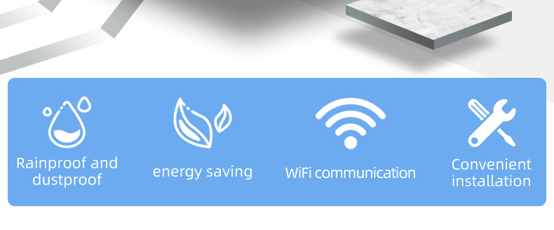 Batterie Waterproof Tuya Beleuchtung WIFI Licht Sensor WiFi Helligkeit Detektor