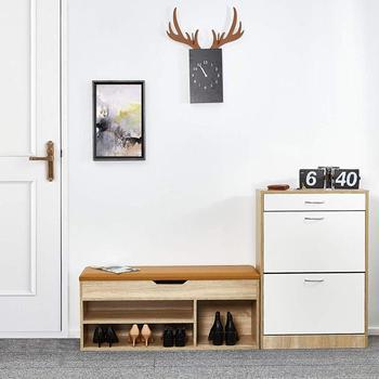 Shoe Boxes Shoe Rack Bench Wood Cabinet Shoe Rack Door Shoes Organizer Storage Living Room Furniture 104 x 45 x 30 cm educational game natural wood 1 5 x 18 x 41 cm 104 pieces