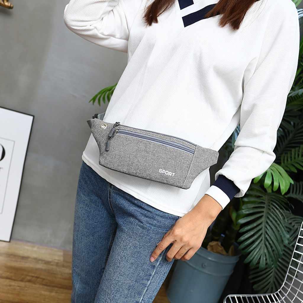 Nueva marca de lujo riñonera para mujer bolsa de cintura Unisex multifunción bolsa de viaje Bolsa De Teléfono bolsa de bolsillo de cadera # FX