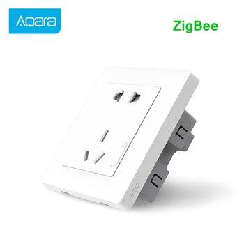Aqara Smart Wall Socket Wireless Wall Outlet Wall Switch Smart Light Control ZiGBee Work For Xiaomi Smart Home Kits APP