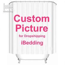 Decorazione su misura del bagno del poliestere della foto delle tende impermeabili del bagno della tenda di doccia su ordinazione di iBedding con il baccello dei ganci Dropshipping