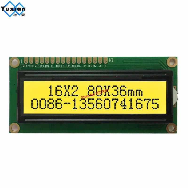 شاشة الكريستال السائل 1602 1602A أخضر أزرق أبيض أحمر أسود رسالة 5 فولت 3.3 فولت HD44780 SPLC780D البلاستيك