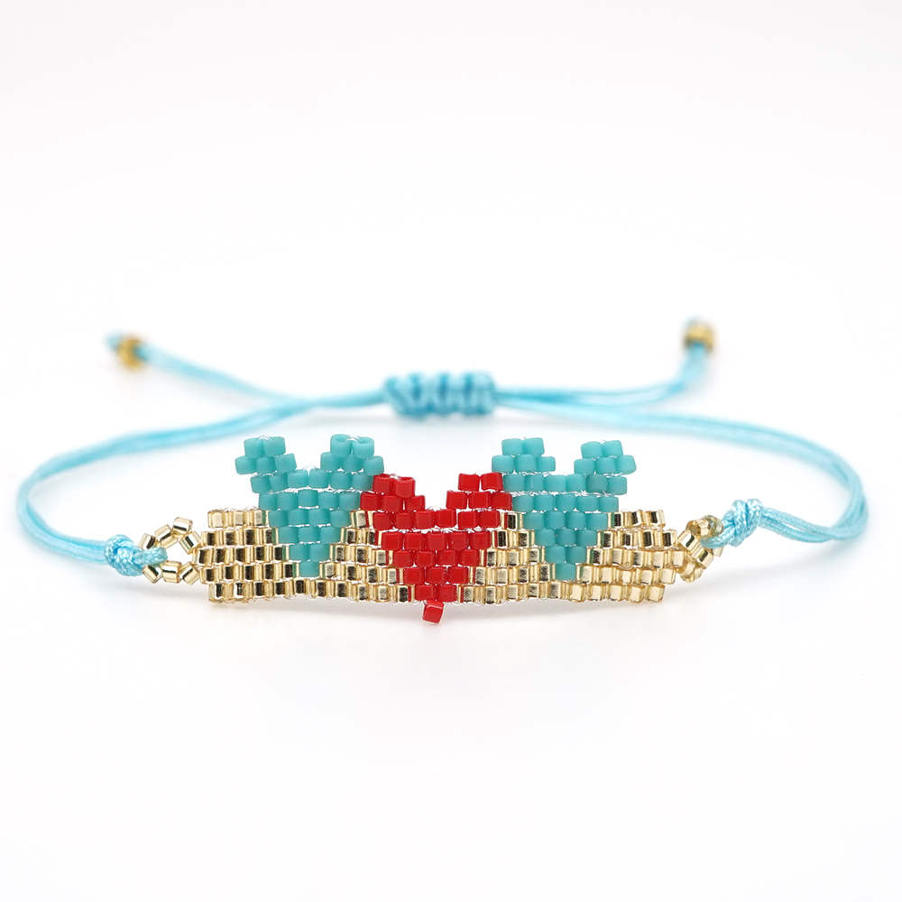 Shinus Perles MIYUKI Bracelet Heart Pattern Bracelets Women Pulseira Mujer 2019 Handwoven Women Summer Jewelry Boho Chic Gift in Charm Bracelets from Jewelry Accessories